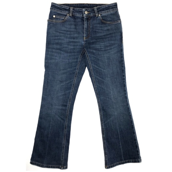 Alexander McQueen Denim - Alexander McQueen Short Dark Wash Jeans